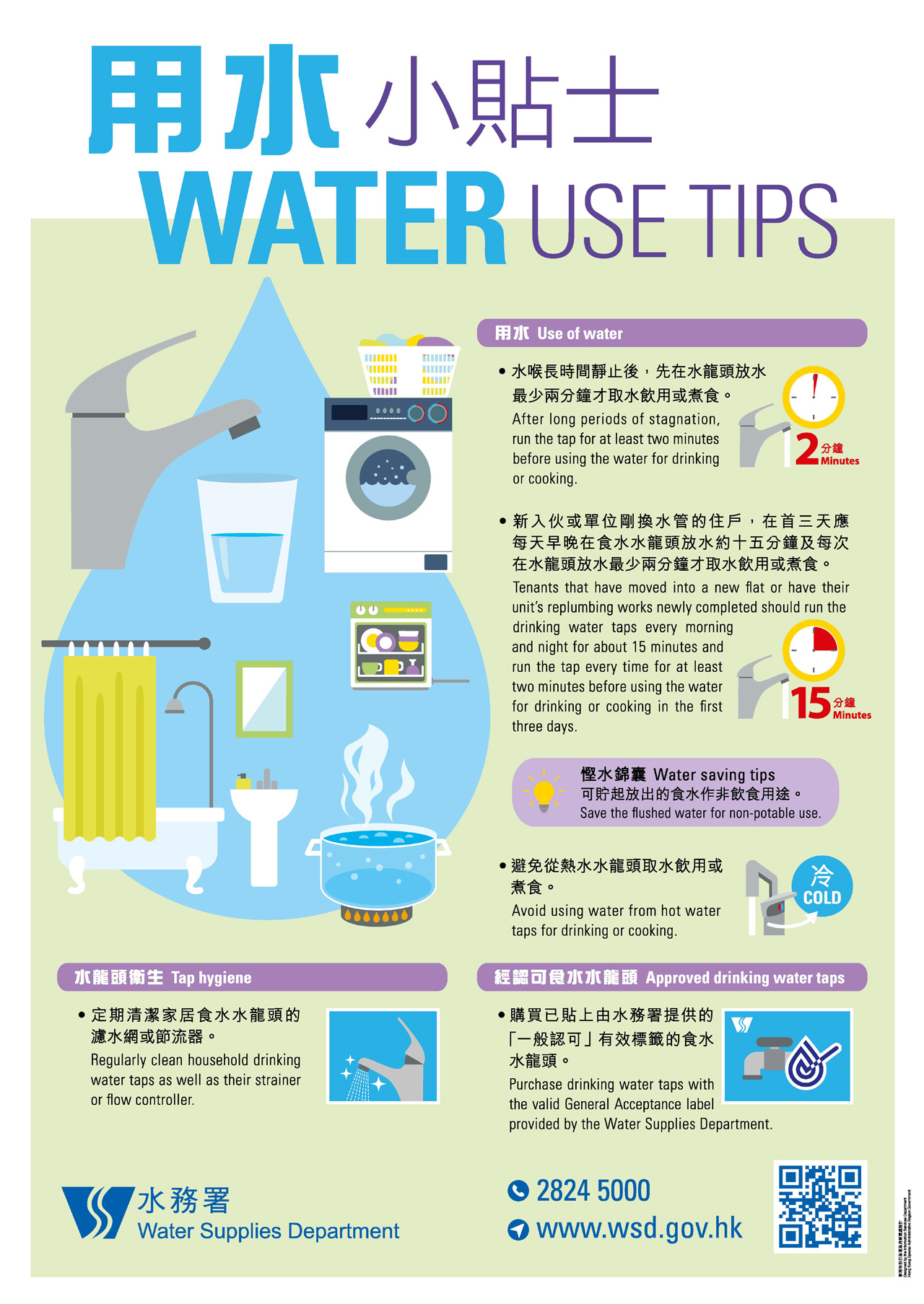 Water Use Tips -- Hong Kong Water Supplies Department