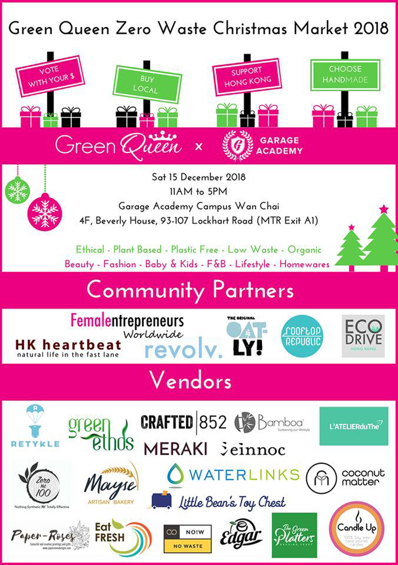 Green Queen Zero Waste Christmas Market